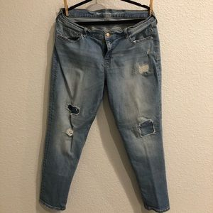 Old Navy Ripped boyfriend jeans size 14
